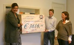 DPC Sponsoractie 2008: uitreiking cheque