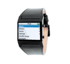 Fotobewerking iWatch: horloge met iPod-interface