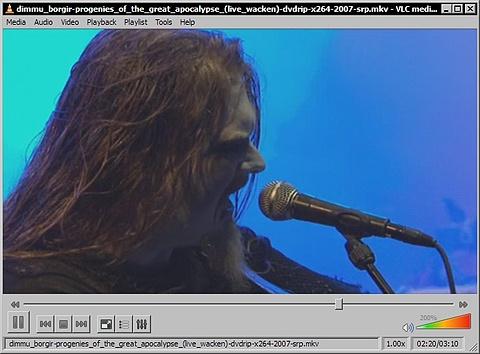 VLC Media Player 0.9.4 - Dimmu Borgir met Progenies Of The Great Apocalypse op Wacken
