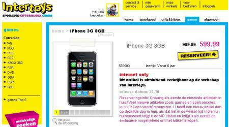 Intertoys iPhone aanbieding