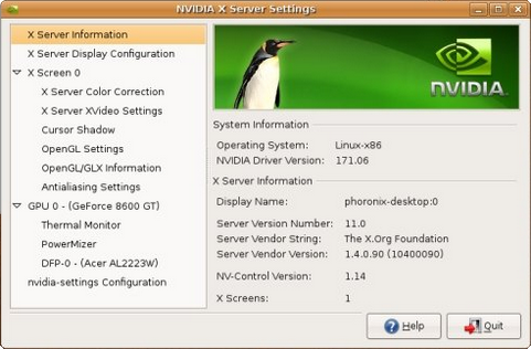 Nvidia Linux Display Driver (481 pix)