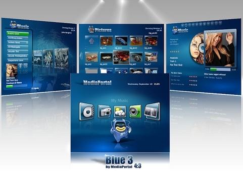 Nieuwe MediaPortal 1.0 rc3 skin: Blue3 (481 pix)