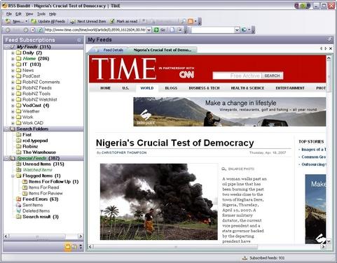 RSS Bandit screenshot (481 pix)