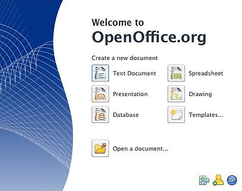 OpenOffice.org startcenter
