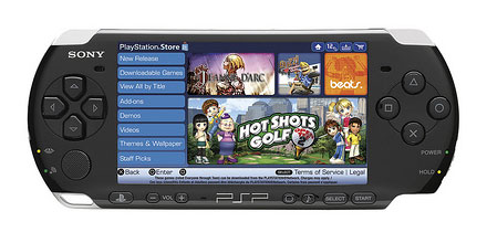 Playstation Store op een Playstation Portable