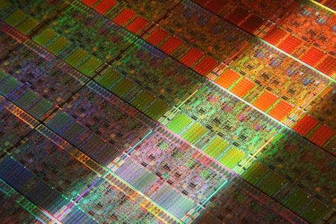 Intel-cpu closeup