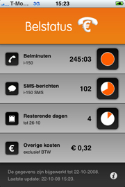 Belstatus-applicatie iPhone
