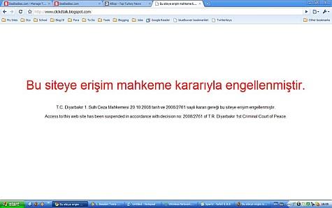 Blogger geblokkeerd