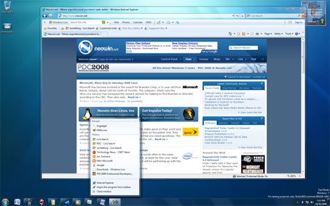 Windows 7 interface