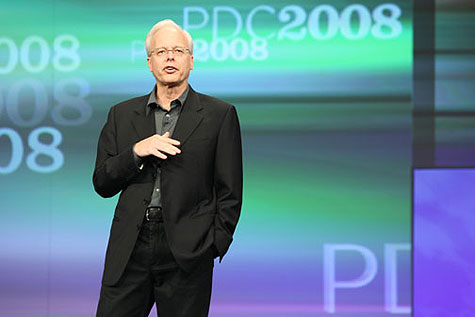 Ray Ozzie, chief software architect, tijdens de PDC