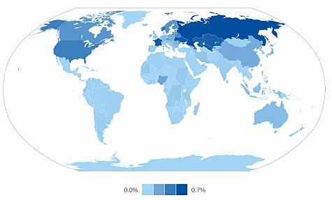 Ipv6-penetratie per land