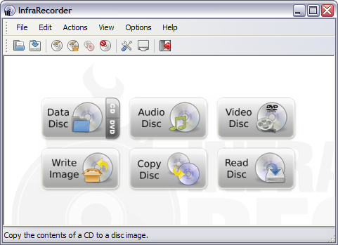 InfraRecorder 0.46 screenshot