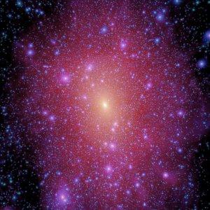 Mogelijk beeld van de straling van donkere materie