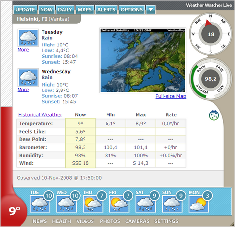 Weather Watcher Live 6.0.0 screenshot (481 pix)