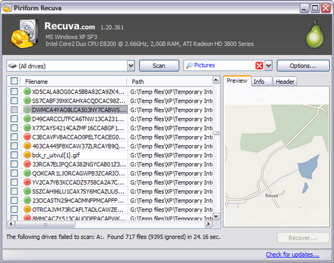 Recuva 1.20.361 screenshot (481 pix)