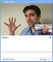 Videovenster van Gmail