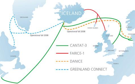 IJsland glasvezelverbindingen datacentra