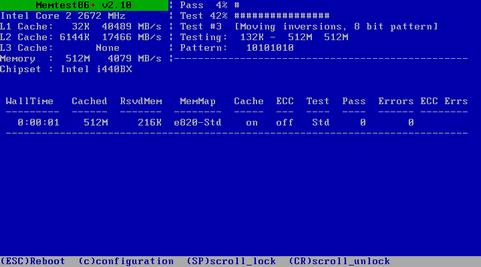 Memtest86+ 2.10 screenshot (481 pix)