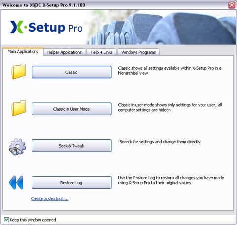 X-Setup Pro 9.1.100 screenshot (481 pix)
