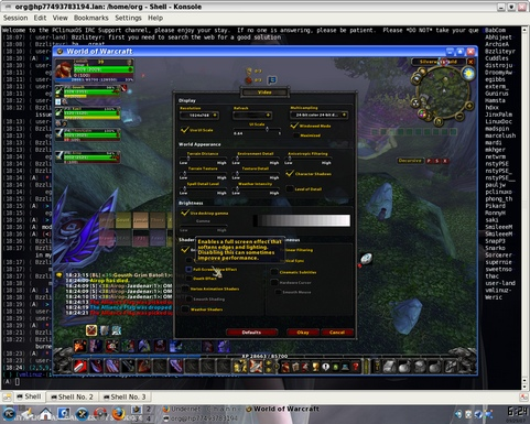 World of Warcraft onder Wine