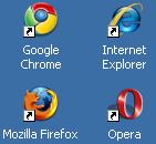 Browsers op desktop