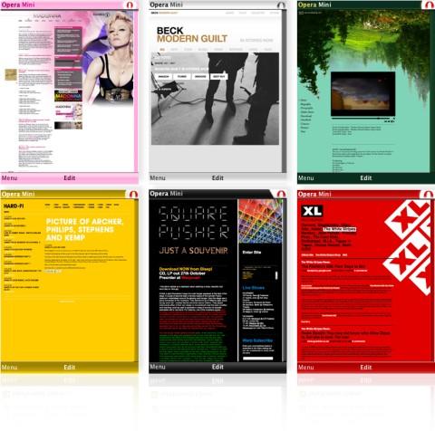 Opera Mini 4.2 screens