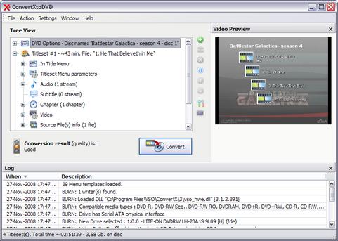 ConvertXtoDVD 3.3.0.96 screenshot (481 pix)