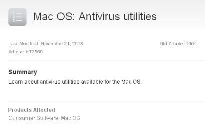 Apple antivirus utilities