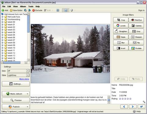 JAlbum 8.1 screenshot (481 pix)