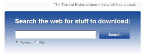 Bittorrent zoek screen