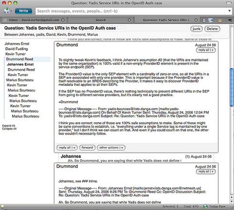 Mozilla Thunderbird 3.0 - email gegroepeerd in een conversatie