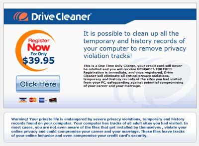 Scareware-reclame voor nepscanner