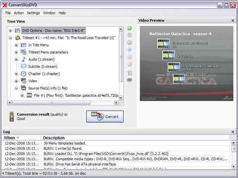 ConvertXtoDVD 3.3.2.100 screenshot (481 pix)