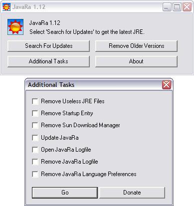 JavaRa 1.12 screenshot