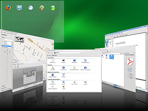openSuse 11.1 - Cover Switch in KDE 4.1.3