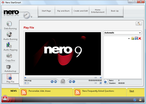 Nero Burning ROM 9 screenshot (481 pix)