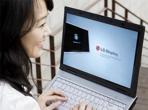 LG Display smiling laidy klein