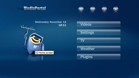 Mediaportal 1.0 screenshot