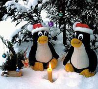 Tux viert kerst met nieuwe kernel