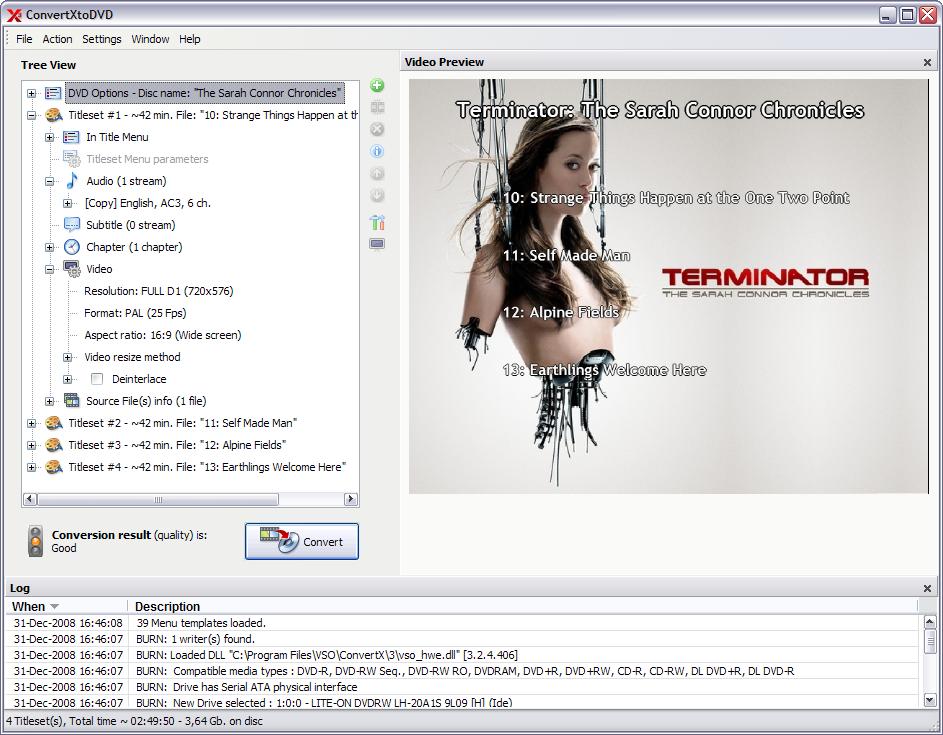 Software update convertxtodvd 4 computer for Convertxtodvd menu templates