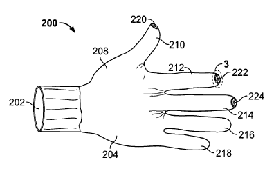 Apple patent handschoen iPod