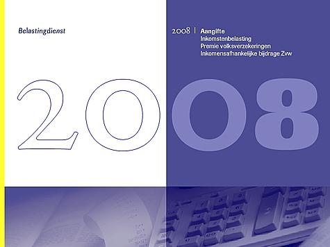 Belastingdienst Aangifteprogramma 2008 - splashscreen