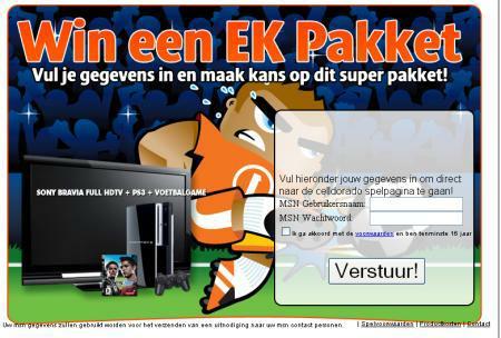 Ekpakket.nl screenshot