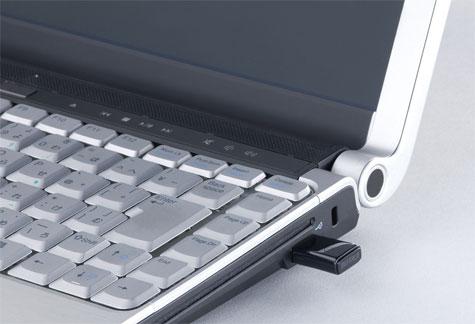 Buffalo WLI-UC-GN wifi-adapter in netbook