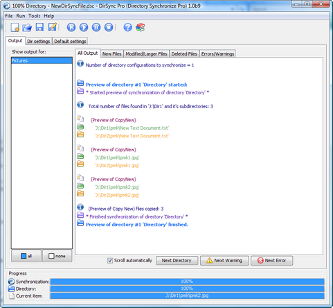 DirSync Pro screenshot (481 pix)