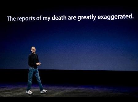 Steve Jobs grapt over zijn gezondheid