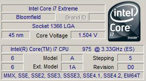 Intel Core i7 975 benchmarks