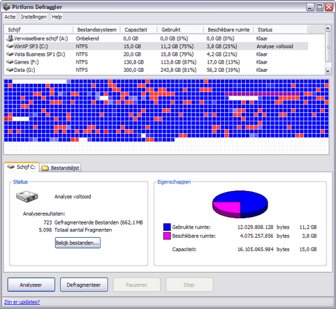 Defraggler 1.07.124 screenshot (481 pix)