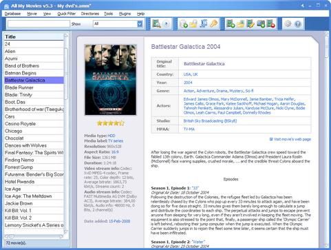 All My Movies 5.3 screenshot (481 pix)