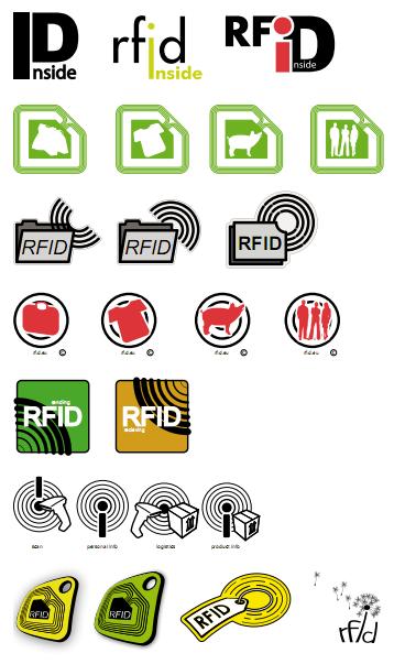 Ontwerpvoorbeelden van logo's voor rfid-producten